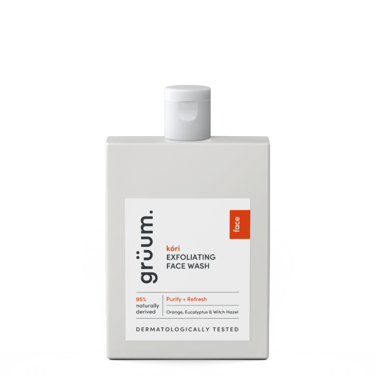 kori exfoliating face wash to purify and refresh
