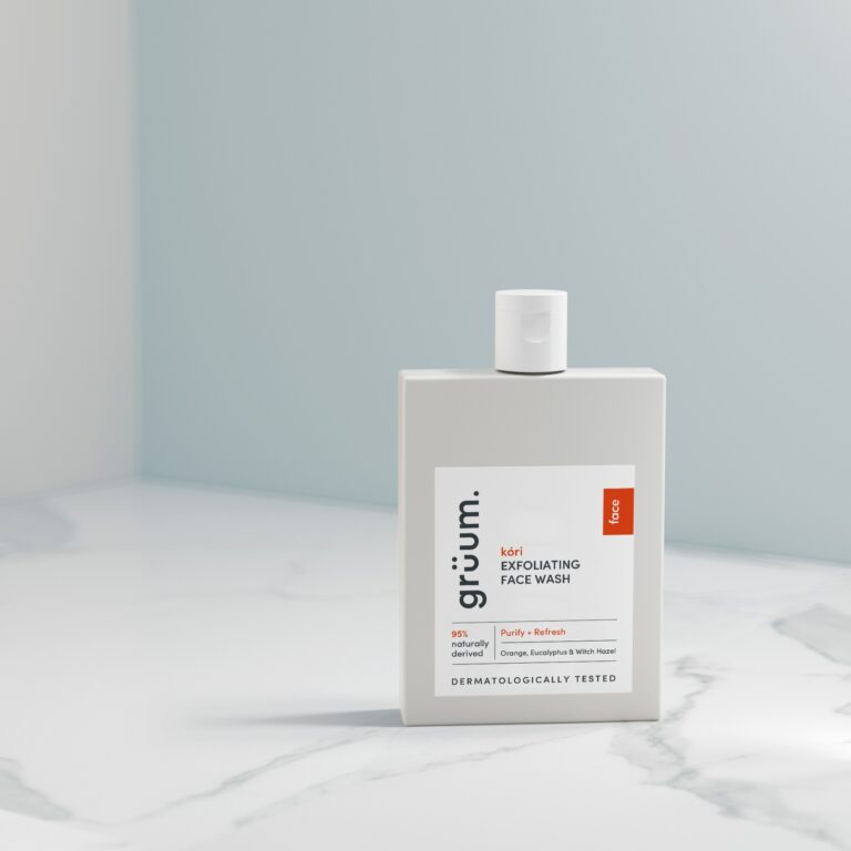 Gruum product image of kori exfoliating face wash to purify and refresh