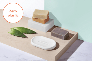 Gruum Body bar gift set product image with 3x body bars and halla soap dish with Zero plastic