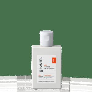 Bottle of pur gentle moisturiser for sensitive skin